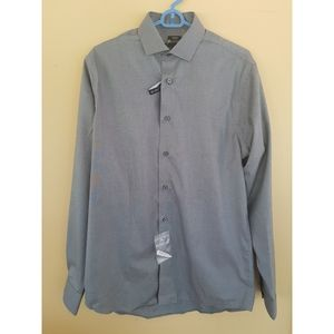 Kenneth Cole Slim Fit Awearness Gray Dress Shirt
